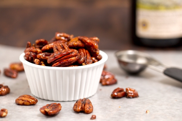 Basamic Candied Pecans